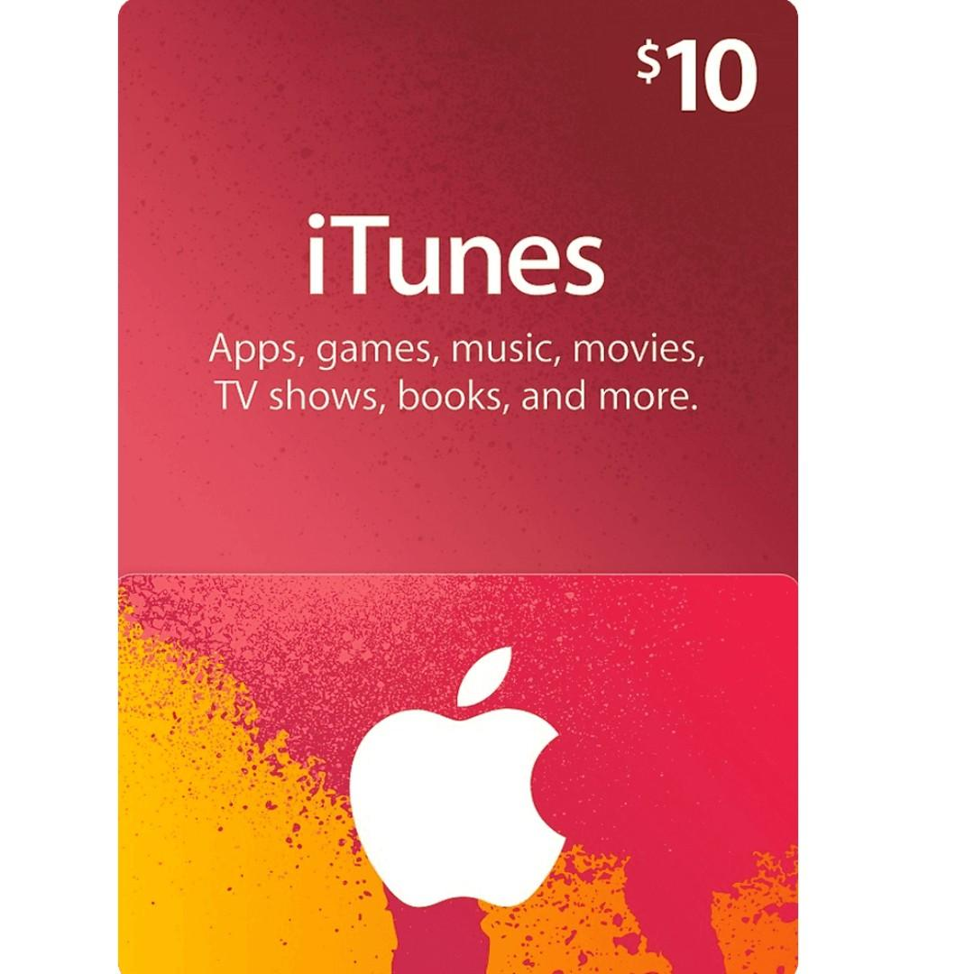 US iTunes Gift Card Code USD $10