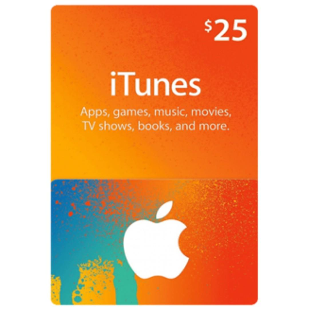US iTunes Gift Card Code USD $25