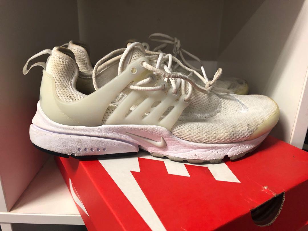 Women's off white Nike running shoes