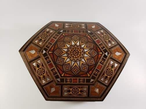 Wooden Marquetry Jewelry Box / Syrian Mosaic /Marquetry / inlay with Mother Of pearl / walnut