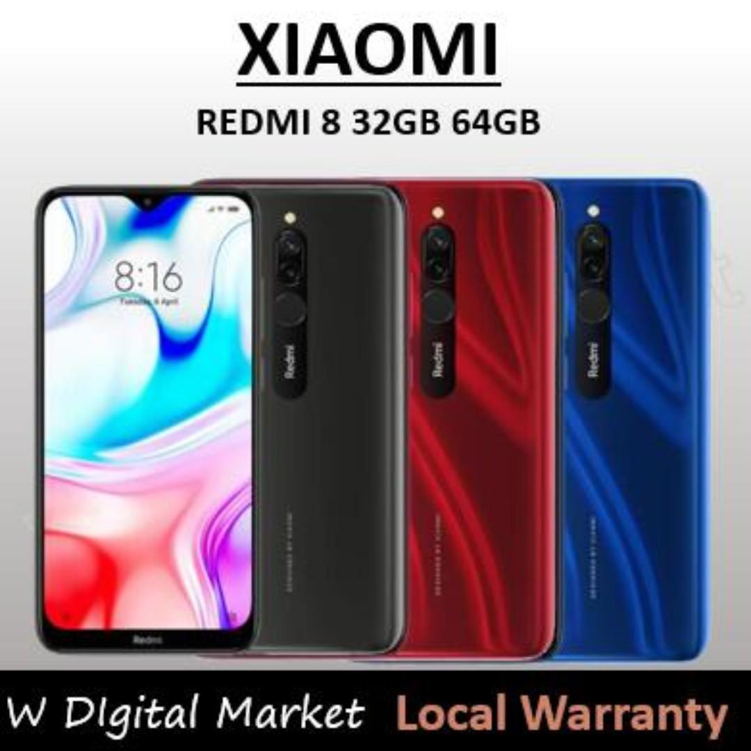 Xiaomi Redmi 8 4GB 64GB Snapdragon 439 Octa Core 12MP Dual Camera Mobile Phone 5000mAh