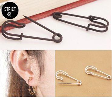 Safety pin trendy earrings