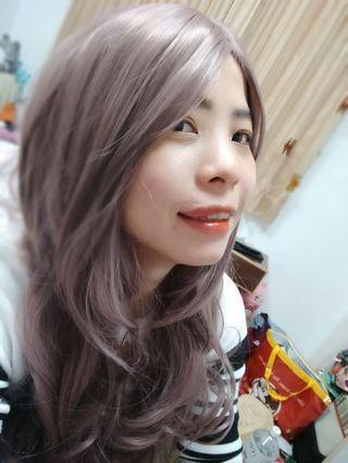 薄騰紫色的超自然假髮♥