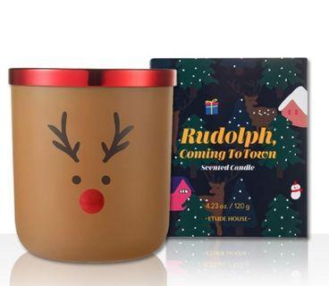 韓國 ETUDE HOUSE 聖誕節 冬夜香氛蠟燭 魯道夫 麋鹿 限定版 Rudolph candle