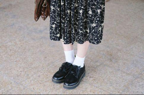 暗黑系花卉古著半身裙