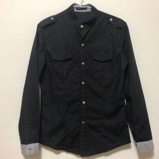 長袖襯衫/黑色