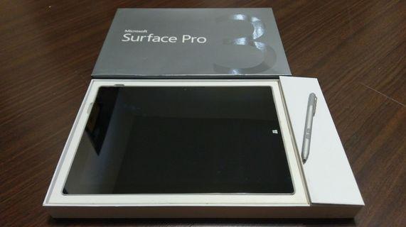 微軟Microsoft Surface Pro3 +筆(無鍵盤)