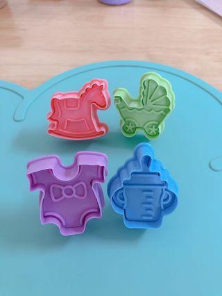 烘培 手工餅乾 壓模 立體按壓式 餅乾模具 翻糖 聖誕節糖霜餅