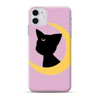 Cat Sitting On The Moon iPhone 11 Custom Hard Case