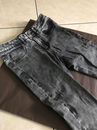 時尚歐洲zara彈性超佳牛仔褲7號120-130cm