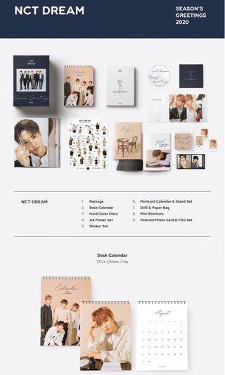 NCT DREAM 2020 SEASON GREETINGS LOOSE SET/ full set