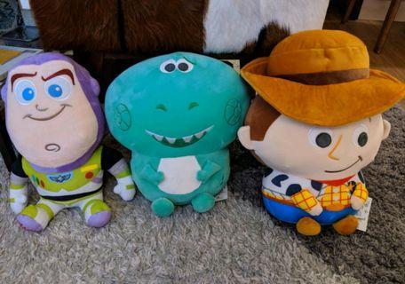 Toy Story 玩具總動員 胡迪警長 巴斯光年 抱抱龍 娃娃 玩偶 woody  buzz lightyear rex