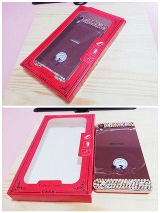 SONY Z3手機殼 全新 鏡面保護殼 玫瑰金 貼鑽 (上面有保護膠膜要撕起來 不是刮傷喔!!)