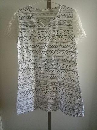 I Am Story - white midi dress #promosidress