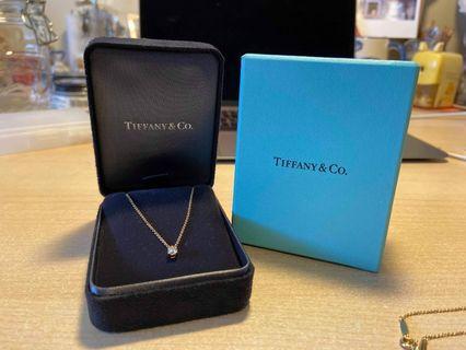 Tiffany & Co Solitaire Diamond Pendant