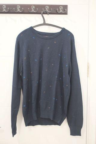 Sweater Blue Wood