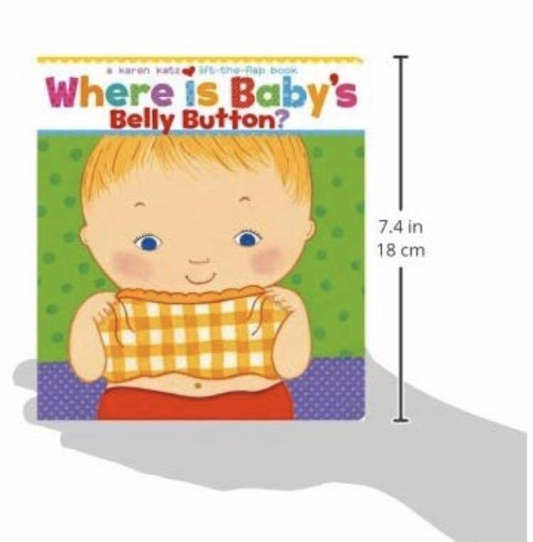 ❤️Ready Stock🔥 Brand New Roger Priddy Baby First 100 Words Book  & Where Is Baby's Belly Button? A Lift-the-Flap Book Board Book