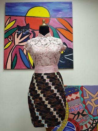 #belanja0 Batik Formal Dress semi Kebaya