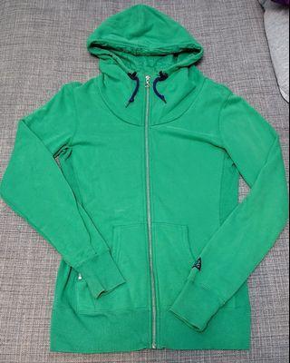 NIKE ACG 女生長板棉質休閒連帽外套 綠 (2手)