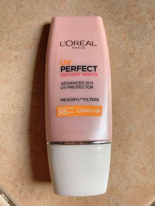 L'oreal Perfect Instant White Sunscreen