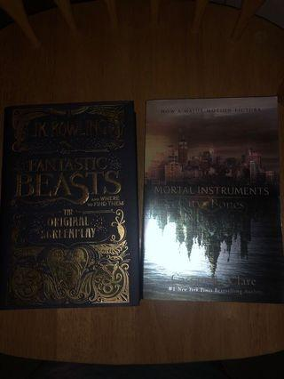 Fantastic beasts and where to find them (original screenplay) and mortal instruments city of bones