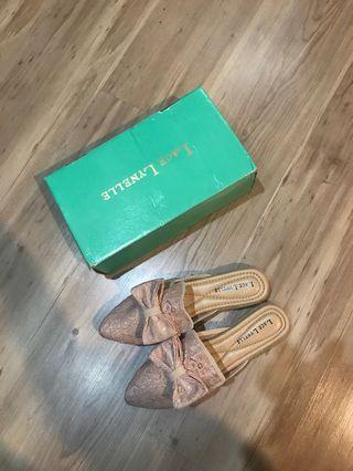 lace lynelle pink mules sandals