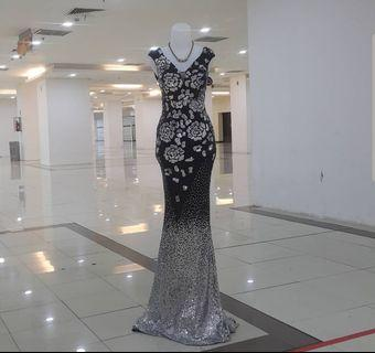 Black party gown