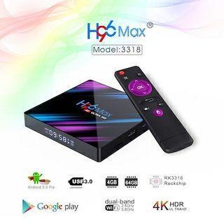 H96 MAX 安卓9.0 4G+64G 電視盒