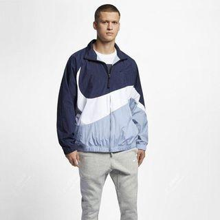 Nike 大勾勾風衣外套 藍白 AR3133-451