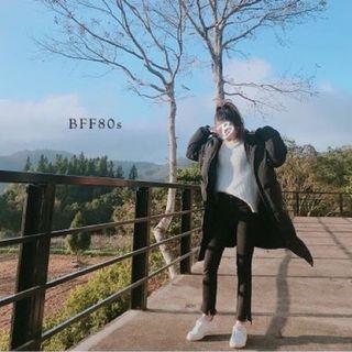 BFF80s 正韓 🇰🇷寒冬必備!保暖長版舖棉外套 -黑-
