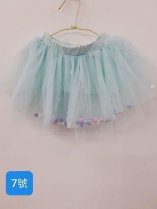 女童 彩球紗褲裙 7號
