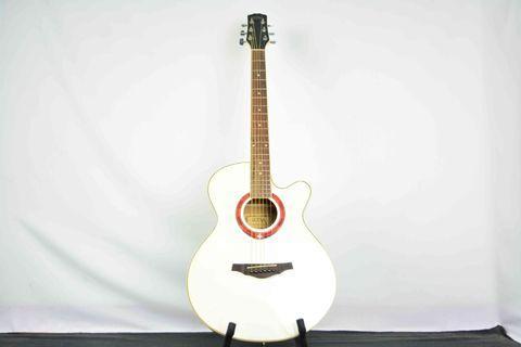 Ultra 白色 入門款 木吉他