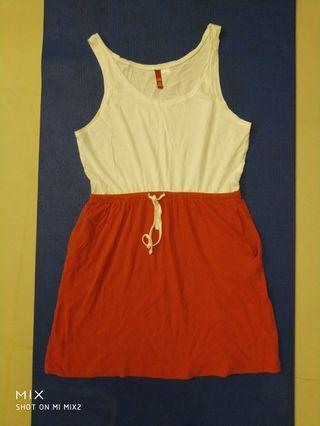 棉質背心裙,未穿過,腰35cm(有鬆緊帶),衣服長80cm,只要60元