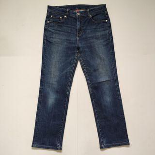 Uniqlo slim fit stretchable jeans 2 blue