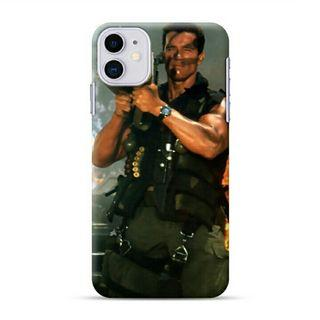 Arnol Schwarzenengger Commando iPhone 11 Custom Hard Case