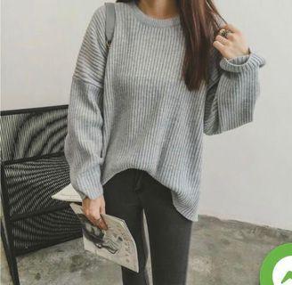 Gray Knit Sweater