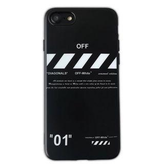 iPhone 7/8 PLUS & Xs 01 off 黑邊軟殼手機殼