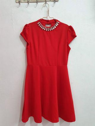 Elegant Red Dress #promosidress