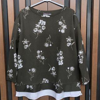 Top Blouse Army floral