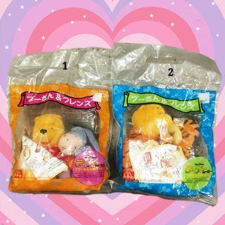 2001年日本迪世尼迪士尼小熊維尼跳跳虎驢子屹耳依唷Eeyore娃娃麥當勞限定變裝布偶玩偶絨毛公仔Pooh日版正版收藏
