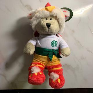 全新 香港 🇭🇰 星巴克 新年 舞獅熊🐻