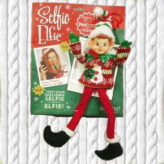 Selfie Elfie 聖誕精靈小精靈掛飾裝飾擺飾聖誕節禮物手腳鐵絲人偶絨毛娃娃玩偶布偶玩具拍照道具可愛收藏正版