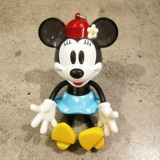 20公分 日本迪世尼迪士尼米妮大型塑膠透明小物存錢桶手腳可動可愛吊飾擺飾公仔玩具正版日版收藏限定公仔坐姿站姿