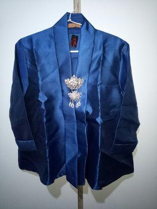 Kebaya Modern Warna Biru + clothes Pin