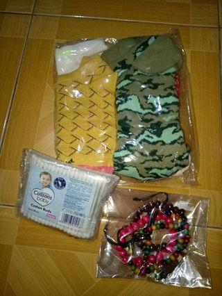 Woman Accessories - socks, bracelets and cotton bud