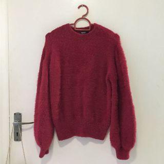 Fluffy Red Knitwear