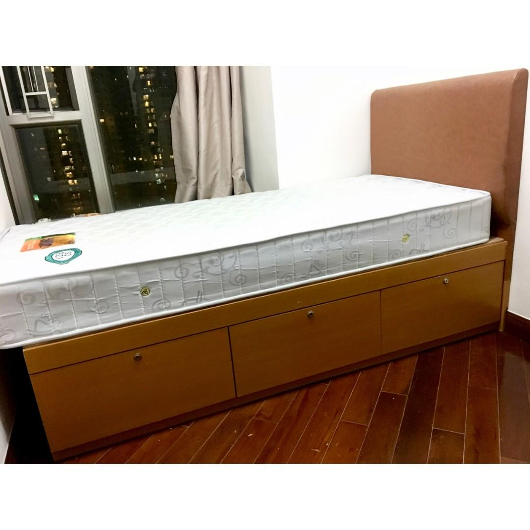 3x6 單人床 (連床褥) bed with mattress FREE