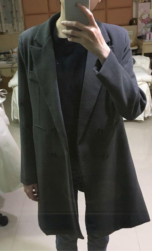 挺版 西裝外套 深灰