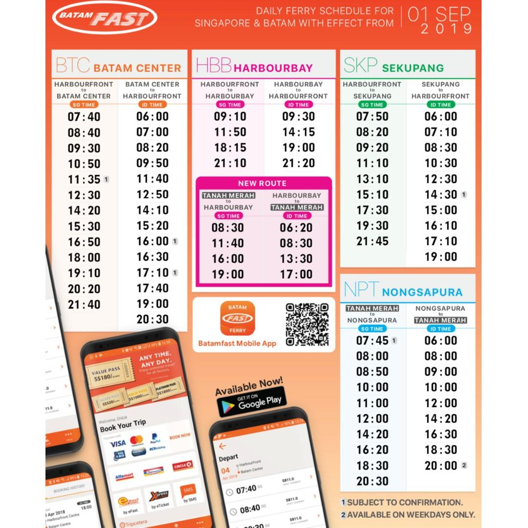 ALL INCLUDE - 02 WAYS BATAM FAST FERRY TICKET