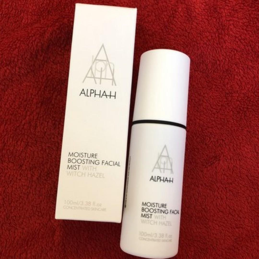 ALPHA-H MOISTURE BOOSTING FACIAL MIST WITH WITCH HAZEL 100ML BRAND NEW IN BOX, AUTHENTIC. [PRICE IS FIRM]